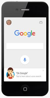 Google logotype on iphone